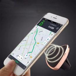 Acheter en ligne Vent mount gps-Vente en gros-Universal Magnetic support de prise d'air pour iPhone 6 6S Plus Desk voiture Phone Holder Sticky pour Samsung S6 Xiaomi GPS Smartphone