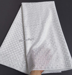 Super smooth African Swiss lace voile fabric for women men high quality 5 yards