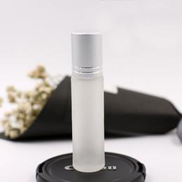 Matting Glass Roll On 10ml empty Fragrance Perfume essential Oil Refillable Bottles Walk bead glass Refillable Ball Bottles Oils Diffusers