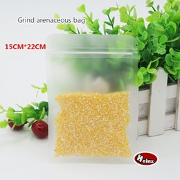 15*22cm Frosted Surface Clear Plastic bag  Resealable Food Storage Packaging For Biscuits Snack Packaging. Spot 100  package