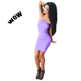 Wholesale Sexy Mini Kimono - Hot retail wholesale 2016 summer style new arrivals women's clothing night club strapless sexy dress halter party dress 3 colors