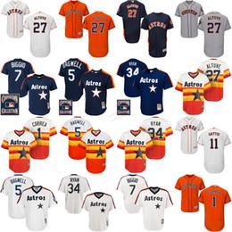 2017 Carlos Corre George Springer Jose Altuve Dallas Keuchel Jeff Bagwell Craig Biggio Flexbase Houston Astros baseball Jersey