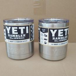 Wholesale 10 oz Yeti Rambler oz Lowball Stainless Steel Tumbler Cup Insulation Cup Bilayer Stainless Steel Tumbler Mug DHL Free
