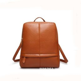 Women Genuine Leather Backpacks Vintage Preppy Style Schoolbag For Teenage Girl Travel bags Ladies Backpacks Mochila 2017 New