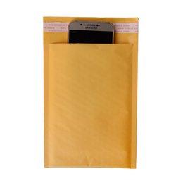 Compra Online Acolchada electrónico-13 * 18cm (5.12 * 7.09 pulgadas) la burbuja de 100Pcs Kraft envuelve el bolso acolchado del regalo de los sobres