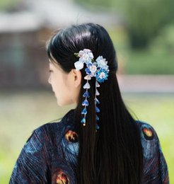 Made of cloth cloth flower hair geisha kimono bathrobes hair photography