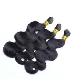 Le tressage des cheveux 12 pouces en Ligne-Bras brésilien Wave Cheveux humains en vrac 8-30 pouces 10A Cheveux bruts brésiliens 3 Pcs lot Cheveux en vrac pour le tressage