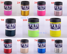 Wholesale Newest Multi colors oz Stainless Steel Colster can Yeti Coolers Rambler Colster YETI Cars Beer Mug Insulated Koozie oz Cups in Stock