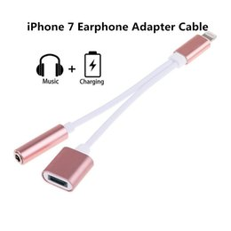 Wholesale 2 in Adapter For iPhone Plus MM Jack Audio Charge Adapter for iPhone Earphone Headset Converter Charger