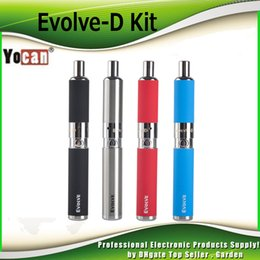 100% Authentic Yocan Evolve-D Starter Kit dry herb pen Vaporizer with Pancake Dual Coils 650mAh Battery ego thread atomizer genuine 2204022