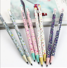Wholesale mm Flower Write unceasing pencil Free cutting Mechanical Pencils stationery escolar writing pens school supplies