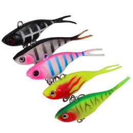 Acheter en ligne Poissons de silicone pour la pêche-6-couleurs Fishing Lure Hooks 7.8cm 9g Poisson de plomb de paquet Silicone Lures Soft Baits 8 # Crochet artificiel Pesca Tackle Accessoires