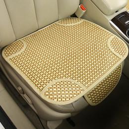 Armadura usada en venta-Cubiertas de asiento de verano para esteras cuadradas de tejido de automóviles con bolsa de almacenamiento para asiento de coche delantero de uso común
