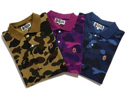 Wholesale new Europe tide Military Camouflage tino cotton Lapel short sleeve tops tees hot sale men women camisetas Polos
