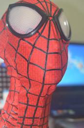 2016 lignes de capot New Spiderman 2 adulte Costume Hood Overhead Masque 3D yeux stéréo Dimensional Line Lycra tissu stretch Costume Hood Accessoire Taille unique lignes de capot sur la vente