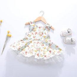 Pequeñas faldas de los niños en Línea-2017 niños ropa niñas vestidos Rompió falda hermosa princesa de pequeños y medianos vestidos sin mangas virgen de las niñas