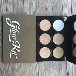 Wholesale ePacket Pieces New Makeup Face Glow Kit Ultimate Glow Metallic Powder Highlighters Colors Powder Palette