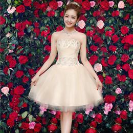 Bridesmaid dress short section 2017 new spring and summer Korean Slim was thin sister group dress dress KAIDISISUN