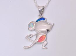Wholesale & Retail Fashion Jewelry Fine Multi Fire Opal Stone Silver Plated Pendants For Women PJ16021408