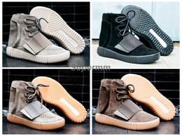 Wholesale DHL libre con la tapa original de la caja Aumento verdadero de Basf Negro negro gris gris Goma Brown Hombre Zapatos de baloncesto Mujer Kanye West Zapatos