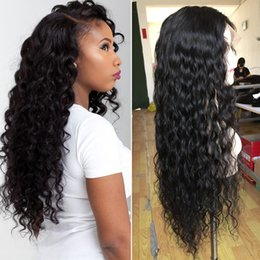 130% Full Lace Human Hair Wigs Wig Loose Deep Curly Lace Front Human Hair Wigs For Black Woman