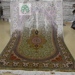 Wholesale 4 x6 Antique Persian Silk Blue And Green Carpet Hand Knotted Turkish Oriental Rug Stores