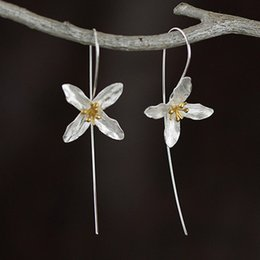 Thailand Chiang Mai art handmade products fresh and beautiful flower earrings ear line FS123
