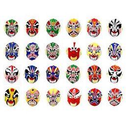 Plastic flocking Beijing opera mask