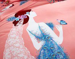 Wholesale Comforters King Size Wholesale - bohemia duvet cover set winter comforter cover bedsheet Pillowcase 4pc bedding sets full queen king size 100% Cotton Bedlinen 3d