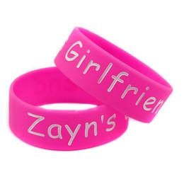 Wholesale 50PCS Lot 1 Inch Wide Bracelet One Direction Silicone Wristband Liam Louis Harry Niall Zayn Girlfriend