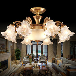 Chandeliers European American style luxurious elegant vintage copper chandeliers lighting brass chandelier led ceiling lighting fixture