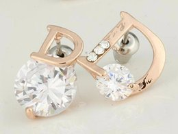 Wholesale DI famous luxury brand New flowers brincos bijoux bijouterie earrings for women