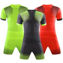 New 17 18 Blank Soccer Card Light Shirt Jacket Adult Set Men Sports Casual Shirt Adult Short Sleeve Set