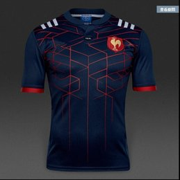 Wholesale 2016 new arrived France Rugby Jersey top quality rugby shirt big size s XL