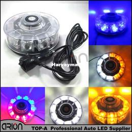 Descuento nave de luz estroboscópica de advertencia Lámpara amonestadora de la lámpara 7 del estroboscópico de la emergencia 10 LED del coche CALIENTE que envía libremente