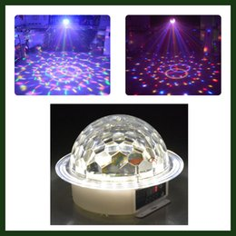 Wholesale 9 Colors Auto Voice activated Led Crystal Magic Light Ball with Led Strip Disco DJ Party Stage Lighting
