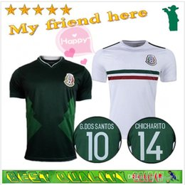Mexico national 2017 CHICHARITO home green short Sleeve G.DOS SANTOS R.MARQUEZ thailand quality Mexico soccer Jersey 17 18 Football shirt