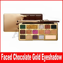 Presell Faced Makeup Palette Eye Shadow Chocolate Gold 16 colors Eyeshadow metallic matte eye shadows natutal cocoa powder palette