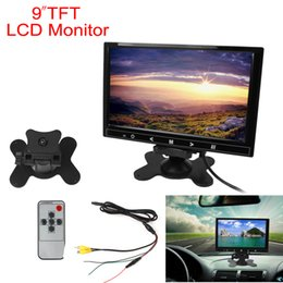 Lcd moniteur d'affichage vidéo en Ligne-9 pouces 800 x 480 voiture RVB affichage numérique 2 entrée vidéo moniteur de la vue arrière avec bouton tactile CMO_30F