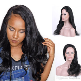 Body Wave Non Remy Brazilian Full Lace Human Hair Wigs With Baby Hair For Black Women Natural Color 130% Density Full Lace Wigs