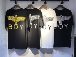 British tide Boy back big eagle big eagle men and women lovers short sleeved T-shirt half sleeve gilt silver Free Delivery