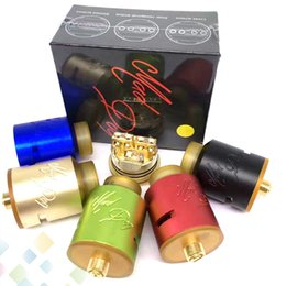 Wholesale Best Desire Mad Dog RDA Atomizer with PEI Drip Tips Electronic Cigarette Colors Desire Mad Dog MM fit Mods DHL Free