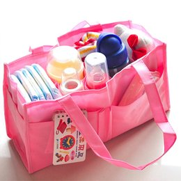 Nappy Diaper Bag For Mom Multifunctional 7 Spaces Baby Organizer Nappy Handbag Children Brush Bottle Storage Case