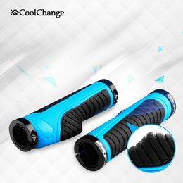 CoolChange Cycling Grips Mountain Bike Handle Rubber grips of Bilateral Lockable anti-skid Ergonomics 3 Colors Bicycle Handlebar
