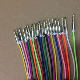 10 COLOR Aluminum Metal Adapter Nylon Braided Woven Fabric Cord 3.5mm Stereo Audio AUX Cable 1M 3FT 200PCS LOT