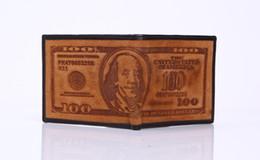 Promotion petits sacs à main marron Petit portefeuille hommes couleur brune dollar des Etats-Unis portefeuille de portefeuille mens sac à main baisse navire MOQ 1 PCS