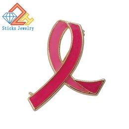 Acheter en ligne Ruban rose sein-Lutte contre le sida Broche en émail Broche Pink Ribbon Factory Cadeaux promotionnels directs Livraison gratuite pour prévenir le cancer du sein