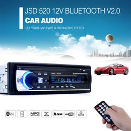 Wholesale Autoradio Car Radio V Bluetooth V2 Car Audio Stereo In dash Din FM Aux Input Receiver SD USB MP3 MMC WMA Car dvd radio Player