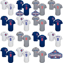 Wholesale 2016 World Series Champions Patch Chicago Cubs David Ross Albert Almora Jr Carl Edwards Christopher Javier Jersey Baseball Jerseys