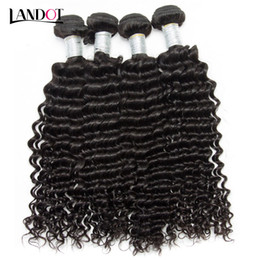 24 profonds faisceaux de cheveux bouclés en Ligne-Brazilian Curly Virgin Human Hair Weave Bundles Non transformé Péruvien Malais Indien cambodgien mongol Deep Curly Remy Cheveux Naturel Couleur